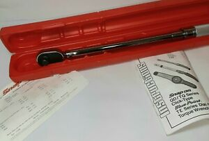 Snap On Tools Qd3r150 1 2 Drive Adjustable Torque Wrench 30 150 Ft Lb