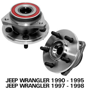 2 Front Wheel Hub Bearing Assembly For Jeep Grand Cherokee Comanche Wrangler Tj