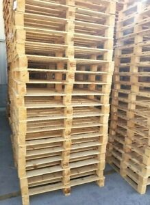 Ht Used Wood Heat Treated Pallet 37x45 natural Wood Four Way 10 Ea Trboxtapes