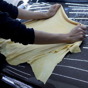 Car Cleaning Cloth Natural Chamois Leather Washing Absorbent Drying Towel Us
