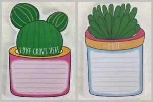 Inspirational Sticky Notes List Pad Cactus Love Grows Here Suc cute lent