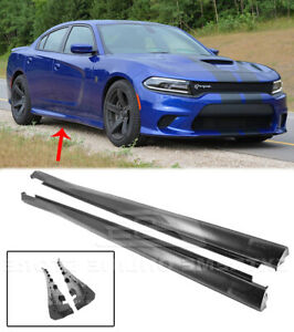 Srt Factory Style Side Skirts For 11 Up Dodge Charger Rocker Panel Pair Upgrade