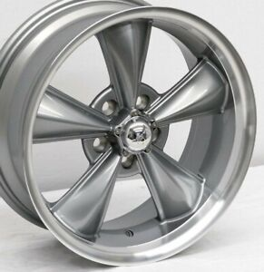 17 Gunmetal Mustang Wheels Staggered 17x7 17x8 Md Classic 5x114 3 1967 1973