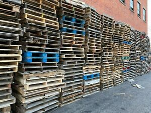 750 Wood Pallets Recovered Skids 4 Way 48 X 42 Local Pickup Only
