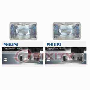 2 Pc Philips High Beam Headlight Bulbs For Audi 4000 4000 Quattro 5000 Coupe Zj