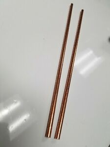 1 4 25 Solid Copper Round Stock Bar Rod 12 2 Pieces
