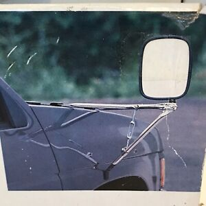 Vintage Magnum Truck Van Side View Mirror Chrome Universal Fit Fender Mount