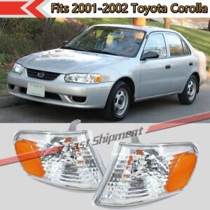 Fits 2001 2002 Toyota Corolla Clear Lens Corner Light Turn Signa Lamp Left right
