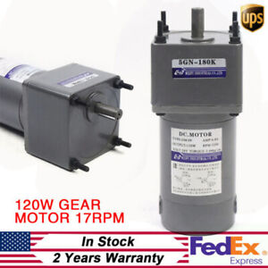 Electric Motor Gear Speed Reducer Electric Variable Motor 120w 24v Flexible New