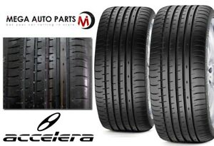 2 New Accelera Phi 2 255 30zr21 95w All Season Ultra High Performance Tires