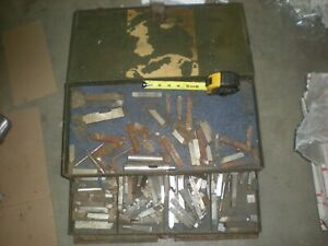 Vintage Metal Lathe Bits blades And Box C 231