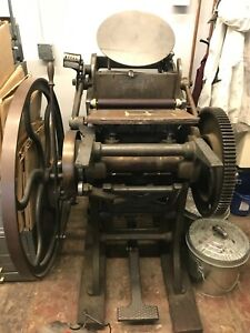 Chandler Price 10x15 Old Style Treadle powered Letterpress Printing Press