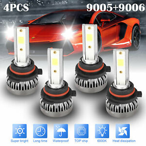 9005 9006 Combo Led Headlight 240w 9600lm High low Beam 6000k White 4 Bulbs Kit