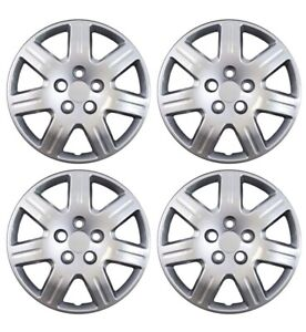 2006 2011 Honda Civic Silver 16 Silver Bolt On Hubcaps Set Of 4