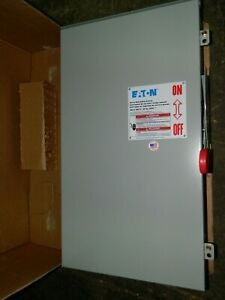 New Eaton Dh364frk 200 Amp 600v 3ph Fusible Type 3r Safety Switch Disconnect