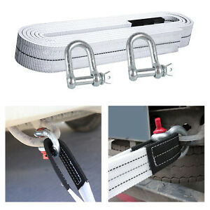 High Strength 5 Meters Towing Ropes With Hook For Car Truck Rescue Equipment