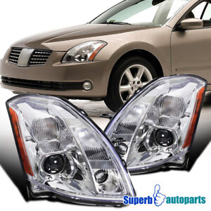For 2004 2006 Nissan Maxima Housing Projector Headlights Head Lamps Replacement
