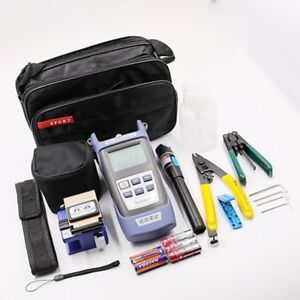 Ftth Fiber Optic Cold welding Kit Cutter Cleaver Optical Power Meter Visual Tool
