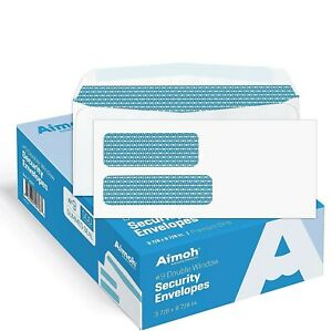 9 Double Window Security Business Mailing Envelopes For Invoices Statements