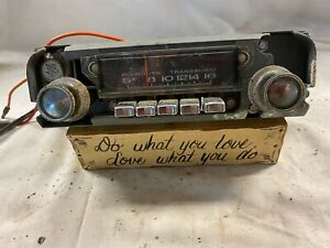 Vintage mopar Plymouth Transaudio radio With Knobs 231 original