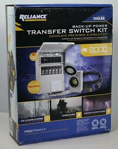 New Reliance Controls 306lrk 6 circuit 8000w Back up Power Transfer Switch Kit