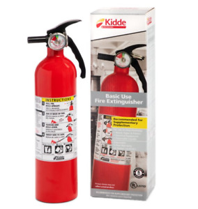 Kidde 1a10bc Basic Use Fire Extinguisher Easy to pull Safety Pin 2 5 Lbs Red