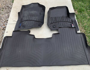 Weather Tech Set Front Rear Floor Liners mats Ford Super Duty F 250 F 350 Crew