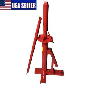 Portable Manual Hand Tire Changer Bead Breaker Tool Mounting Home Shop Auto Us