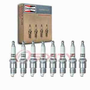 8 Pc Champion Copper Plus Spark Plugs For 1969 1974 Checker Taxicab 5 7l V8 Yd