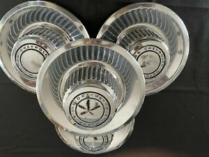 1968 Thru 1972 Chevy Chevelle Derby Hubcaps Rally Center Caps Oem Gm Original