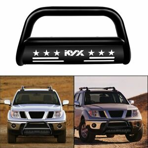 For 05 19 Nissan Frontier Pathfinder Black 3 Bull Bar Push Bumper Grille Guard