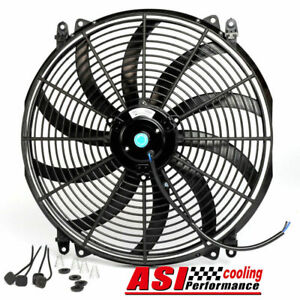 16 12v Slim Thin Fan Push Pull Radiator Cooling Electric Radiator Fan New Asc