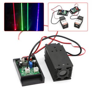 445nm 450nm Focusable 2w Blue Laser Module Diode For Engraving Cutter Ttl 12v