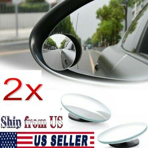 2x Car Blind Spot Mirror Rear Side View 360 Wide Angle Convex For Suvs Truck