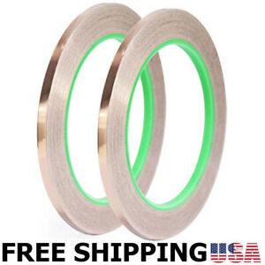 2pack 0 12in 66ft Double sided Conductive Copper Foil Tape