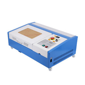 Used 40w Co2 Laser Engraver Cutting Machine Cutter Interface 12 x8 W 4 Wheels