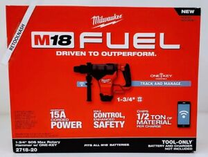 Milwaukee 2718 20 M18 Fuel 1 3 4 Sds max Rotary Hammer W 1 key Comp tool Only