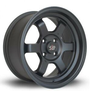4 Pcs Rota Grid V Wheels 15x7 4x114 3 20 73 Flat Black