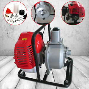 43cc 2hp Gas Powered Water Transfer Pump Portable For Irrigation 2 Stroke 10m h