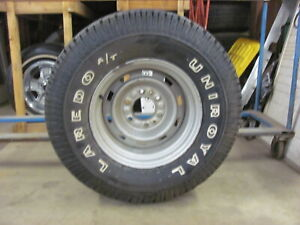 Chevy Truck 15x8 Rally Wheel Rim Uniroyal Laredo 31x10 5r15 Lt