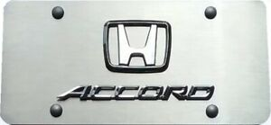 Honda Accord 3d Stainless Steel License Plate Clear Lens