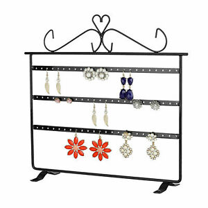 72 Hole Earring Jewelry Necklace Showcase Stand Holder Organizer Display Rack Us