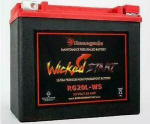 Replacement Battery For Big Dog Motorcycles all Models Rg20l ws 500 Cca s