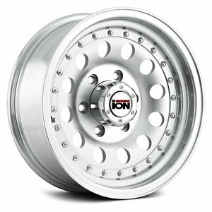 Ion Alloy 71 Wheels 15x7 6 6x139 7 107 5 Silver Rims Set Of 4