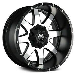 Off road Monster M08 Wheels 20x9 12 8x165 1 125 Black Rims Set Of 4