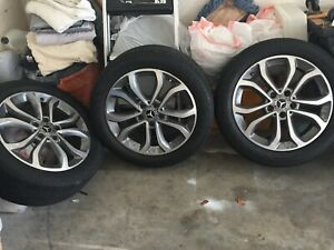 Mercedes 17 Oem Wheels With Bridgestone Run Flat Tires