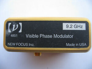 New Focus Electro optical Phase Modulator Model 4851 Visible Light 9 2 Ghz