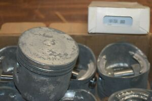 Vintage Ford 312 Y Block New Nylen 60 Cast Pistons And Rings Fairlane Hot Rod