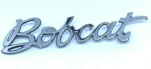 Mercury Bobcat Car Script Emblem Badge Metal Vintage