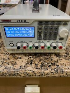 Tenma 72 8795 Programmable Dc Power Supply 3 Output Bench Power Supply